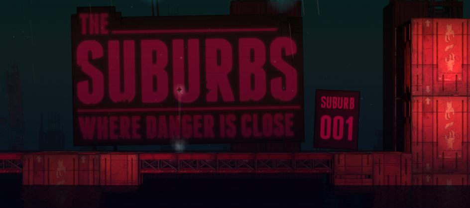 Suburbs Sign