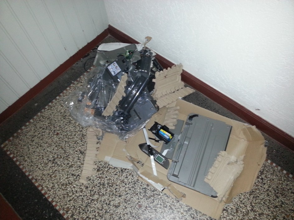 Printer vs. Freight Elevator
